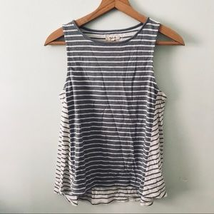 Madewell striped swing tank